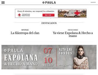 Main page screenshot of paula.cl