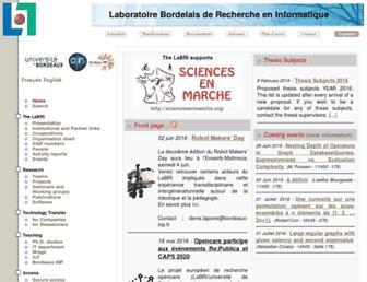 labri.fr screenshot