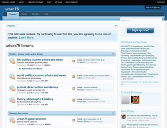 urban75.net screenshot