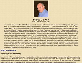 brucegary.net screenshot