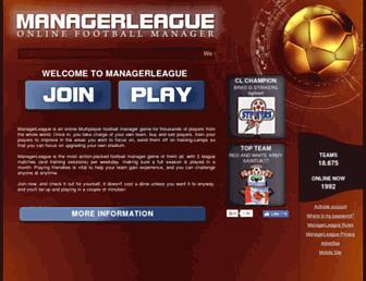 managerleague.com screenshot