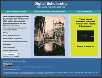 Main page screenshot of digital-scholarship.org