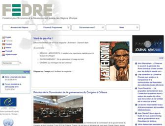 Main page screenshot of fedre.org