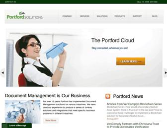 portfordsolutions.com screenshot