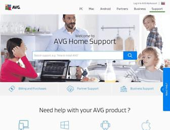 support.avg.com screenshot