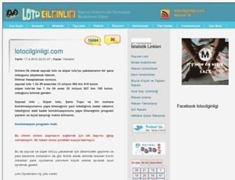 lotocilginligi.com screenshot