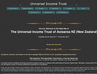 Main page screenshot of uitrustnz.org