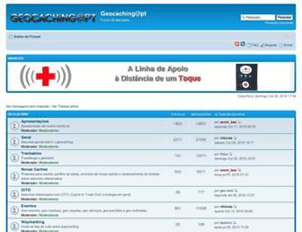 Main page screenshot of forum.geocaching-pt.net