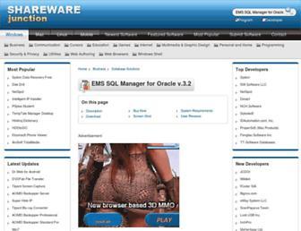ems-sql-manager-for-oracle.sharewarejunction.com screenshot