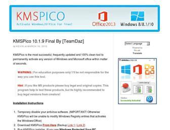 kmspico10.com screenshot