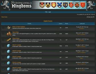 forum.strongholdkingdoms.com screenshot