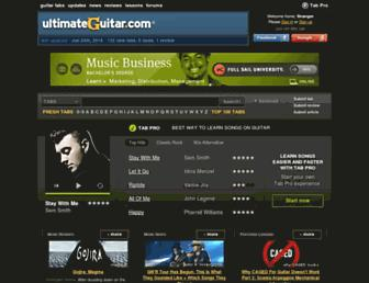 Thumbshot of Ultimate-guitar.com