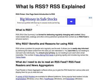 Thumbshot of Whatisrss.com