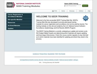 training.seer.cancer.gov screenshot