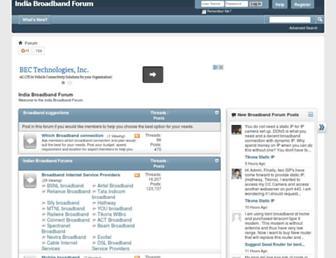 Main page screenshot of indiabroadband.net