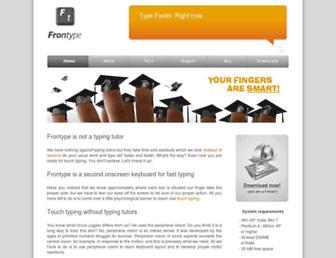 frontype.com screenshot
