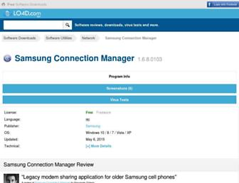 samsung-connection-manager.en.lo4d.com screenshot