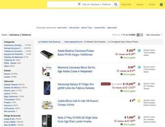 telefonos.mercadolibre.com.mx screenshot
