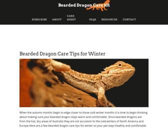 beardeddragoncare101.com screenshot