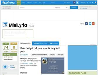 minilyrics.en.softonic.com screenshot