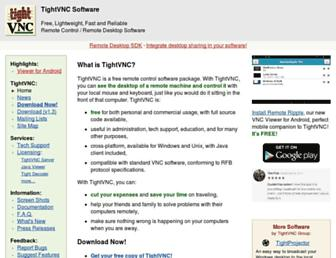 Thumbshot of Tightvnc.com