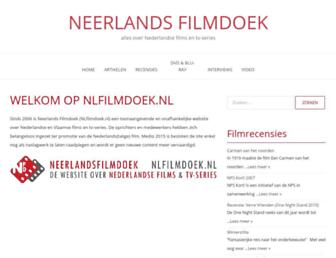 Main page screenshot of nlfilmdoek.nl
