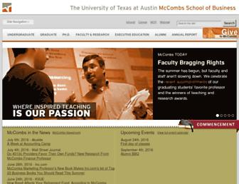 mccombs.utexas.edu screenshot