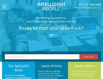 intelligentpeople.co.uk screenshot