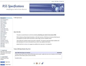 Thumbshot of Rss-specifications.com