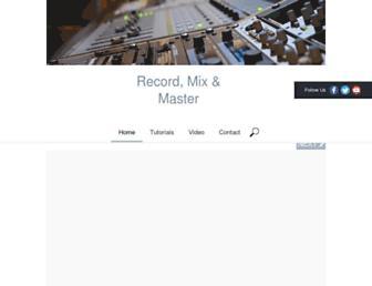 recordmixandmaster.com screenshot