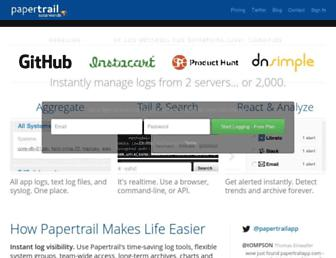 Thumbshot of Papertrailapp.com