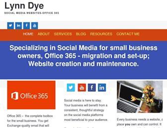 lynndye.com screenshot