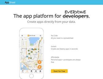 appsheet.com screenshot