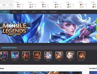 mobilelegends.com screenshot