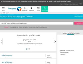 forum.bouyguestelecom.fr screenshot