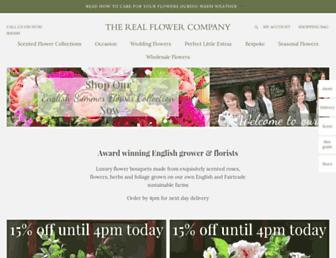realflowers.co.uk screenshot