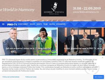 Main page screenshot of internetprotv.ro