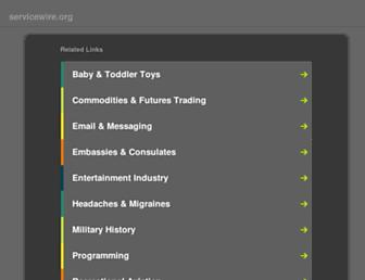 Main page screenshot of servicewire.org
