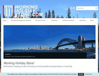 workingholidaystore.com screenshot