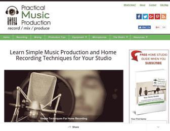 practical-music-production.com screenshot