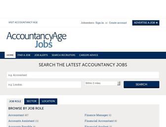 accountancyagejobs.com screenshot