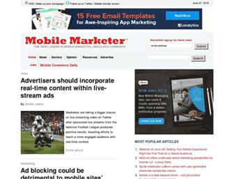 Thumbshot of Mobilemarketer.com