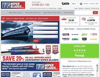 wiperblades.co.uk screenshot