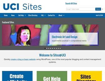 sites.uci.edu screenshot