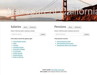 Thumbshot of Transparentcalifornia.com