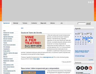 Main page screenshot of llagostera.org