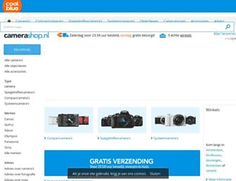 Main page screenshot of digicamshop.nl