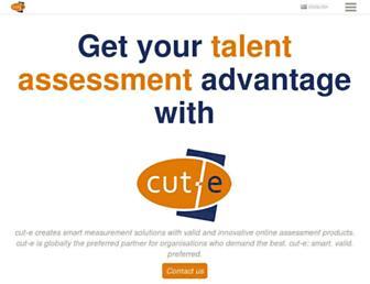 cut-e.com screenshot
