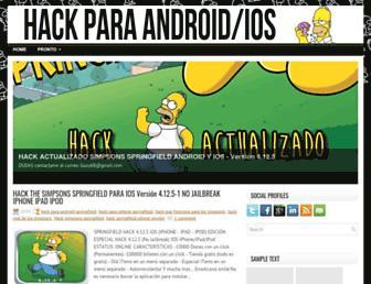 hackparalossimpsonsspringfield.blogspot.com screenshot