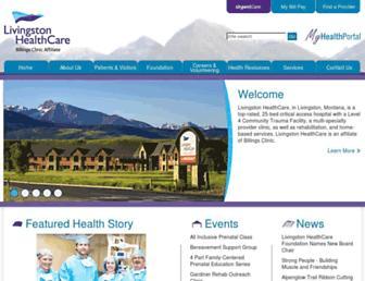 livingstonhealthcare.org screenshot